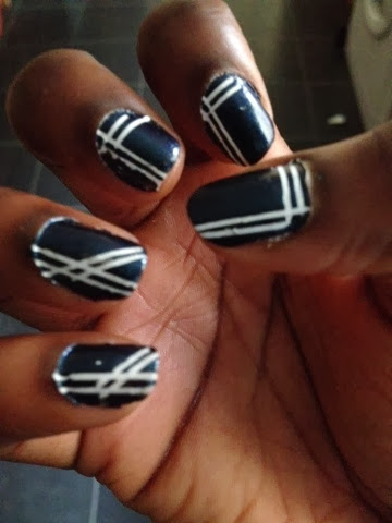 notd striping tape nail art
