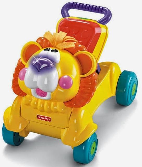 Chiếc xe tập đi Stride To Ride Lion với những bánh xe lớn và tay nắm chắc chắn