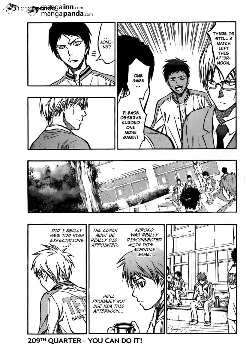Kuroko no Basket Manga Chapter 209 - Image 03