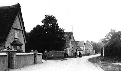 "The former brewery, Hauxton Road, Little Shelford ""1916. The unused brewery which is in the corner of the Hauxton Road was built by Arthur Austin who died in 1908."" From A Record of Shelford Parva by Fanny Wale P32"