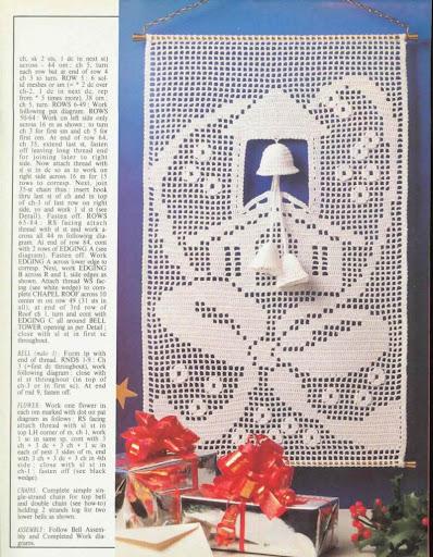 cortinas tejidas navideñas Enfeite%2520Natal%2520foto