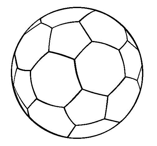 Pinto Dibujos: Balón de futbol para colorear
