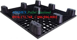 Pallet nhựa đen Thailand NLV 1011 LT