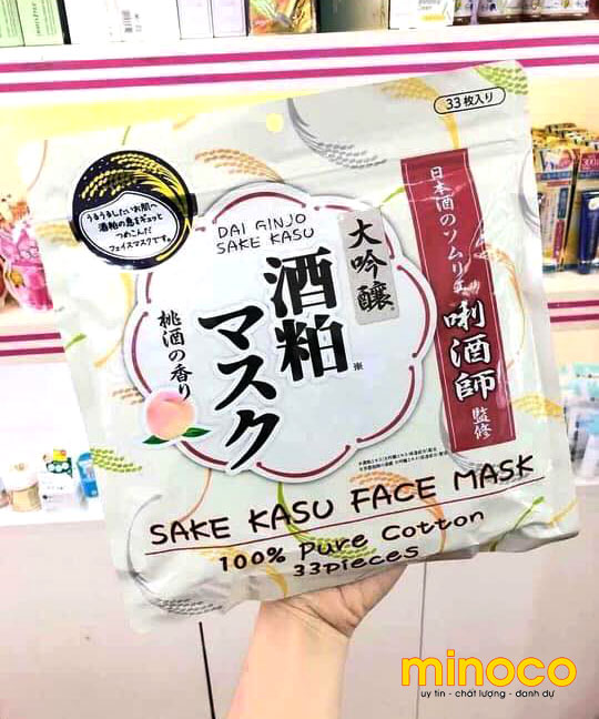 [ Review] Mặt Nạ Sake Kasu Face Mask 33 Miếng Nhật Bản