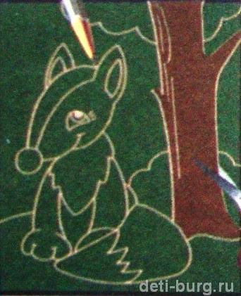 Рисуем лисичку