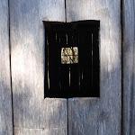 Through Scotts Hut window (105445)