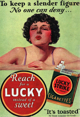 Lucky cigarette ad