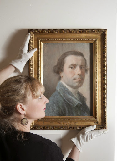 Allan Ramsay 's self-portrait at Duff House, Banff, Scotland