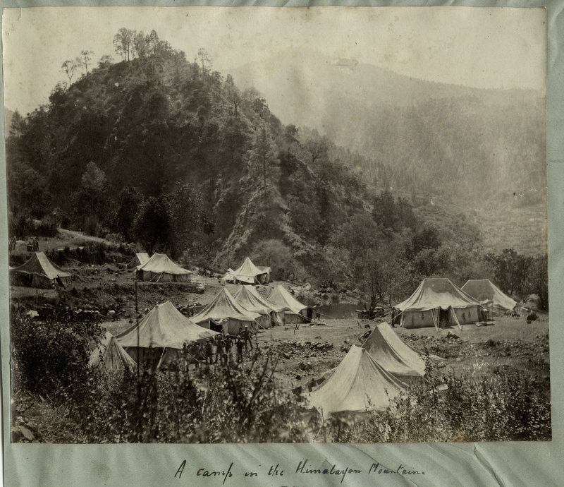A Camp in the Himalayan Mountains - 1880's