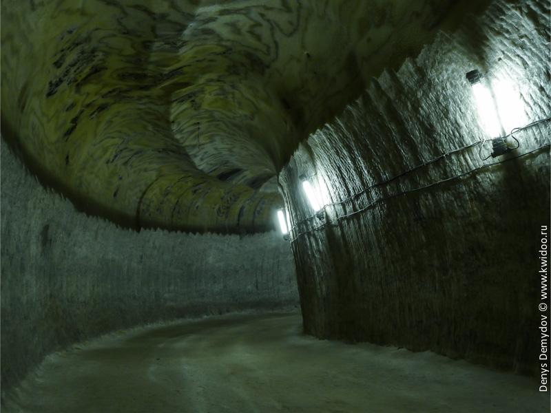Потолок соляной шахты