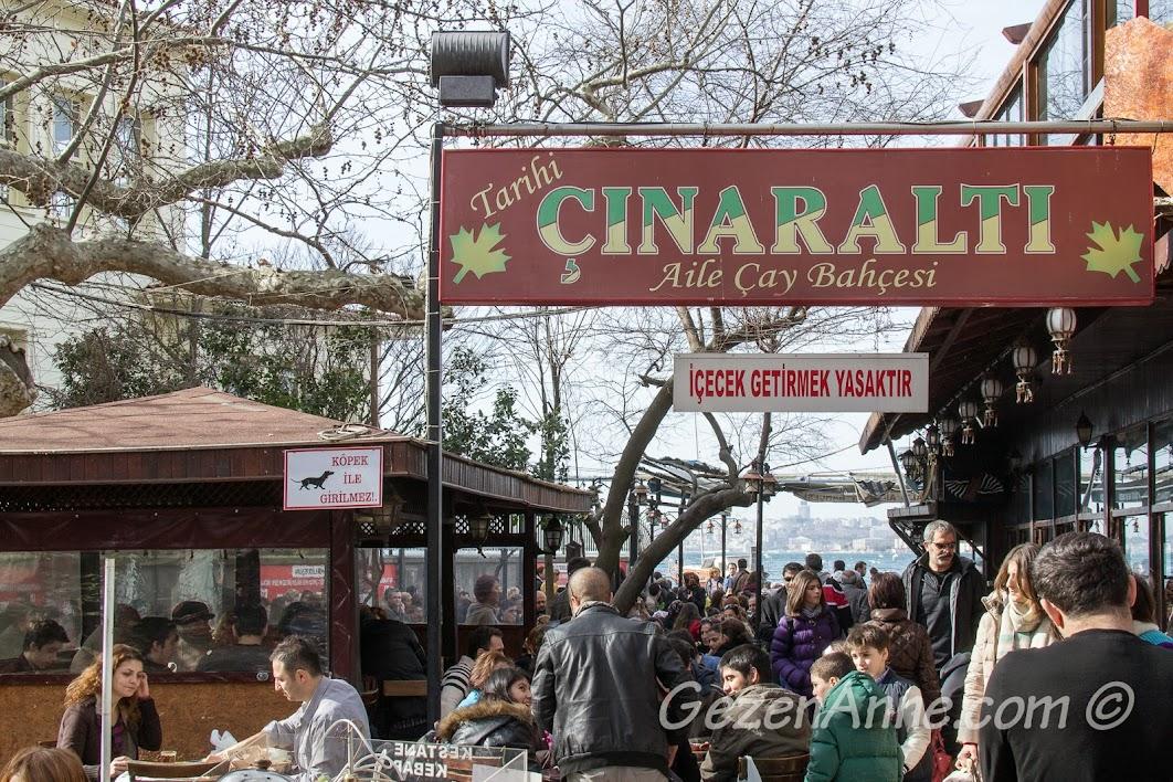 Çengelköy Çınaraltı aile çay bahçesi