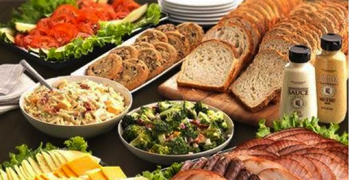 HoneyBaked Ham Catering: Create Your Own Sandwich Platters & Sides #HoneyBakedGameDay