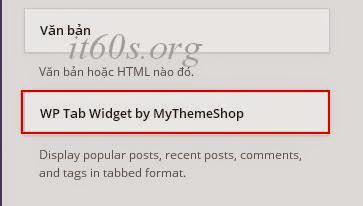 """Cách tạo """"Widget tab"""" hiển thị bài viết đơn giản trong Wordpress 2"""