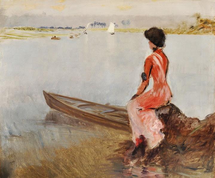 Giuseppe de Nittis - In riva al lago, 1875