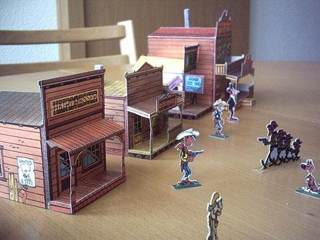 Wild West Town Papercraft