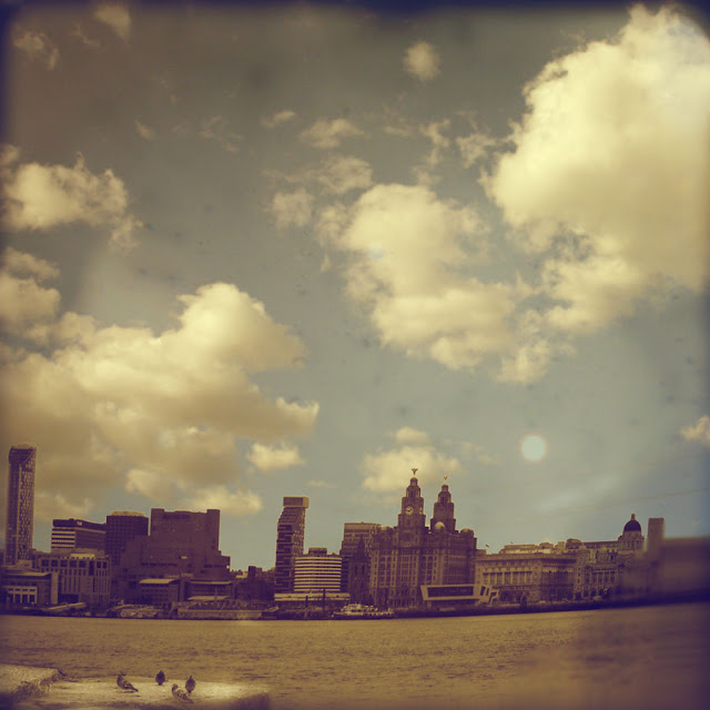 Liverpool with Pidgeons - Photograph by Tim Irving