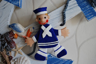 Nautical polymer clay sailorman