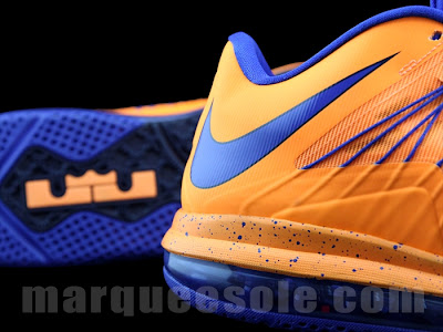 nike lebron 10 low gr orange blue 1 05 First Look at Nike LeBron X Low   Cavs Hardwood Classic?!
