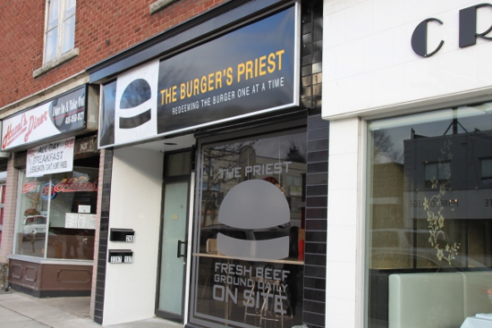 Burger's Priest's uptown location on Yonge north of Lawrence.