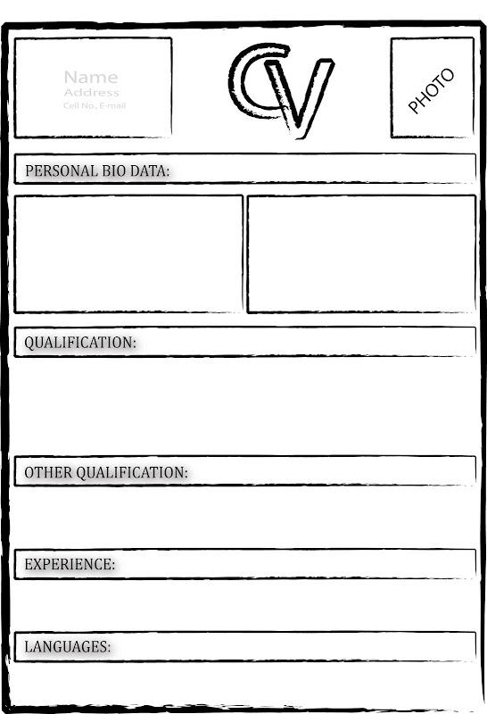 Blank Resume Doc  Blank Resume  Blank Resume Templates