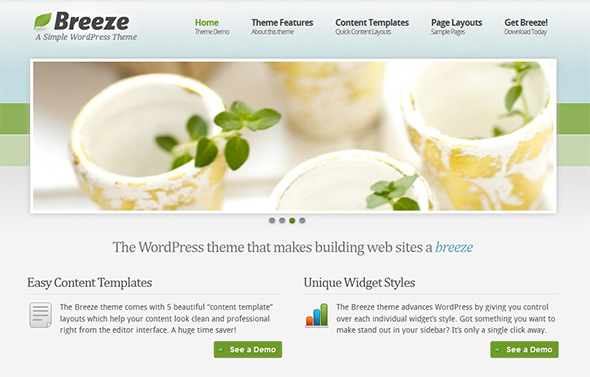 Breeze Organic WordPress Theme