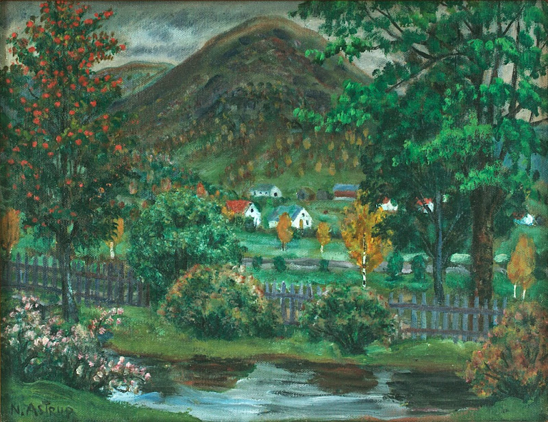 Nikolai Astrup - Over the Garden Fence, Jølster