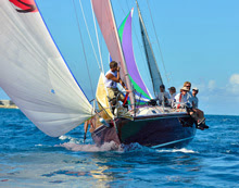 J/105 Loki sailing the Nassau Cup Ocean Race to Bahamas