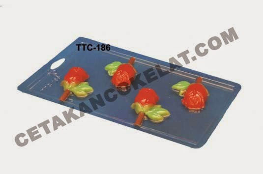 Cetakan Coklat TTC186 Bunga Mawar Rose valentine