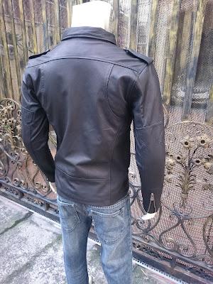 áo khoác da cừu moto