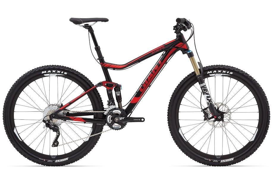 Xe dap the thao dia hinh GIANT Stance 27.5, xe dap the thao, xe dap trinx, xe đạp thể thao chính hãng, xe dap asama, Stance 27 5 0 Black Red Profile