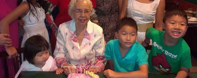 Celebrating Great grandma's 88th birthday.