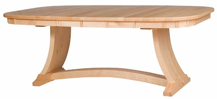80u2033 X 48u2033 X 30u2033 Adagio Dining Table In Natural Hard Maple