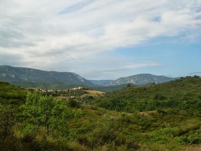 Looking westwards towards St Julia de Bec