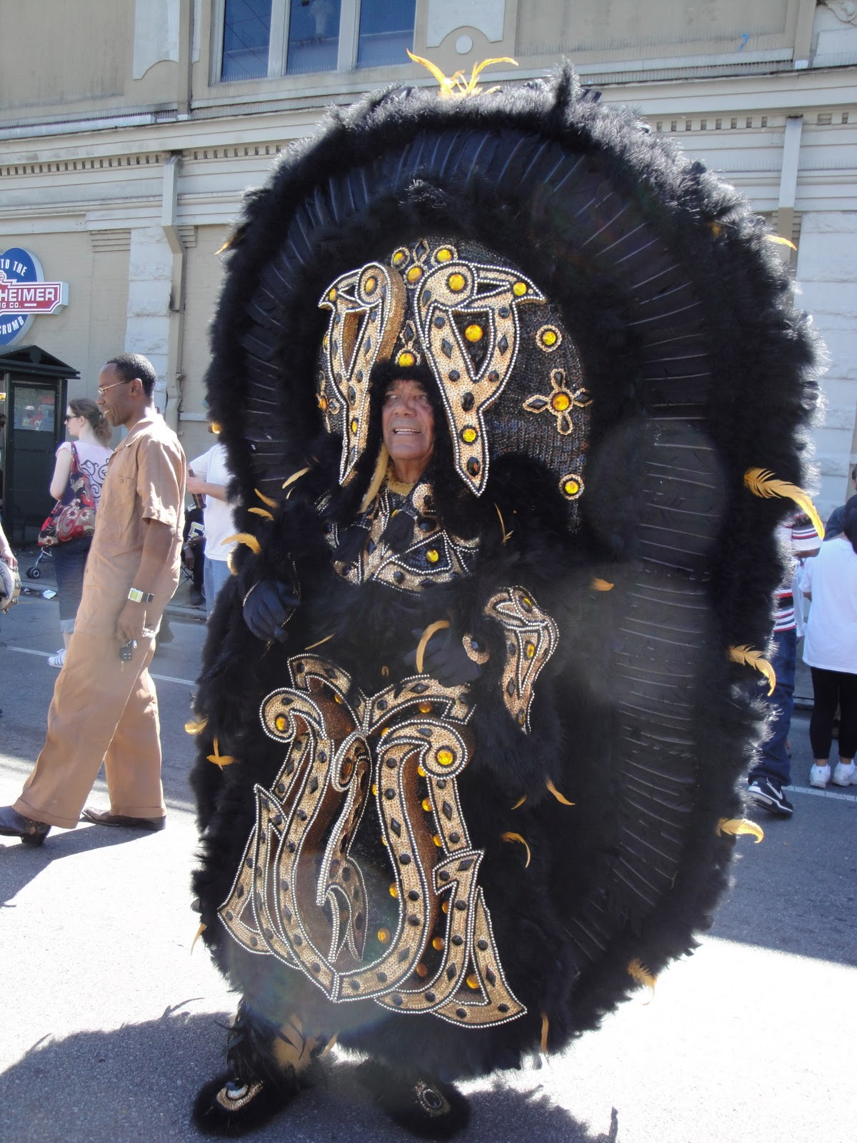 The costumes are one of the most important elements of the competition and participants spend all year carefully (and secretly) creating them. & Midori Stories: Mardi Gras Indians 1