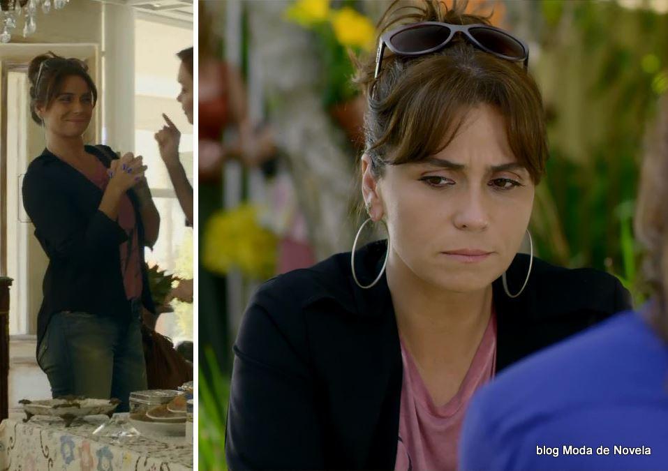 look da Clara na novela Em Família