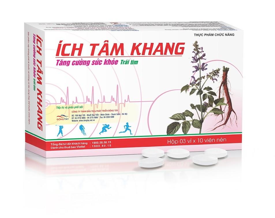 Ích Tâm Khang giúp giảm đau thắt ngực do bệnh mạch vành