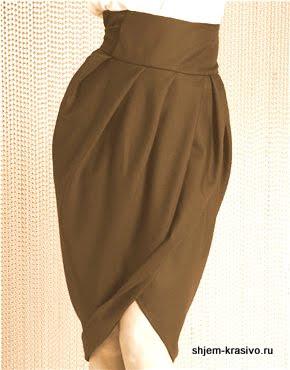 Как сшить юбку тюльпан в фото