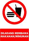 Rambu Dilarang Membawa Makanan/Minuman