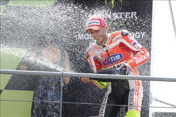 Valentino Rossi Podium LeMans 2011