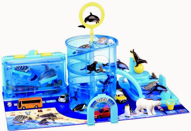 Toàn cảnh khu bể cá sôi động Splash Aquarium Set