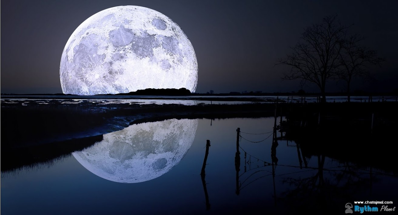 خلفيات القمر HD 2014 - أجمل خلفيات ضوء القمر على البحر - Moon HD Wallpapers 2013