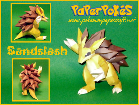 Pokemon Sandslash Papercraft