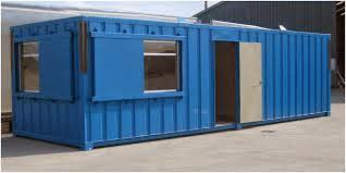 blue portacabin