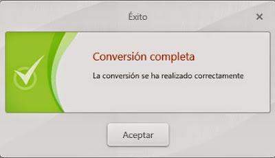 Conversión completa