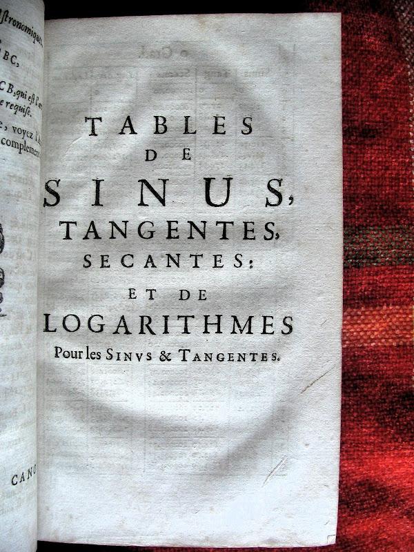 bibliotranstornado tables de sinus tangentes et secantes et de logarithmes des sinus. Black Bedroom Furniture Sets. Home Design Ideas