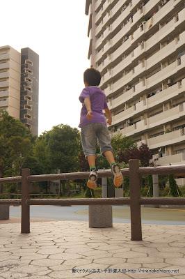 次男のジャンプ
