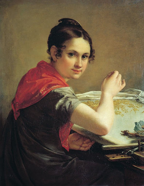 Vasily Tropinin - Gold-Embroideress, 1826
