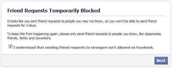 Too many friend requests