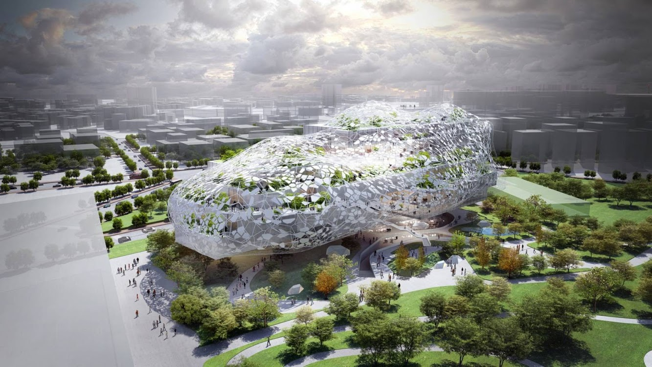 Taichung, Taiwan: Taichung City Cultural Center Competition Entry by Rmjm