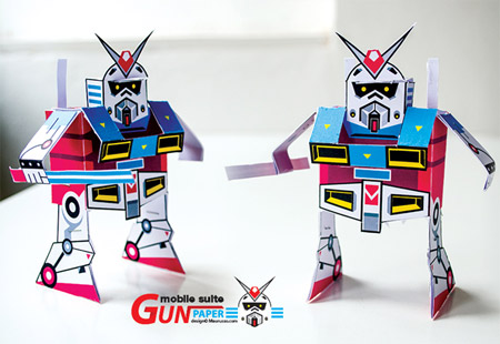 GUNpaper the Gundam Paper Toy